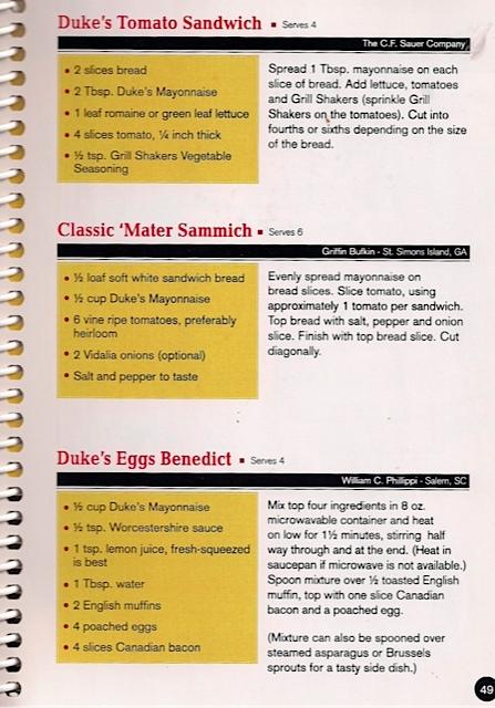 Duke's Tomato Sandwich