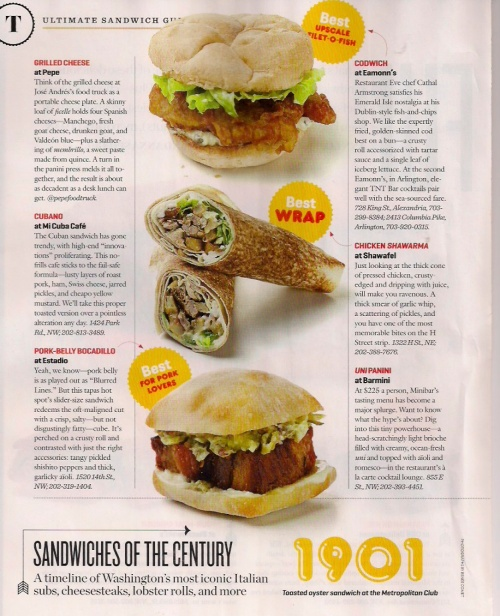 Washingtonian Sandwiches Page 3