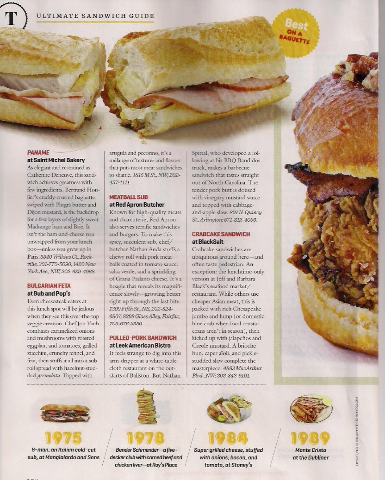 Washingtonian Sandwiches Page 4