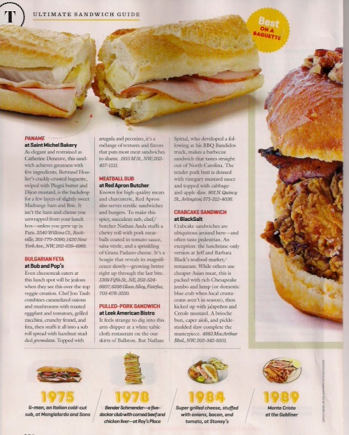 Washingtonian Sandwiches Page 4