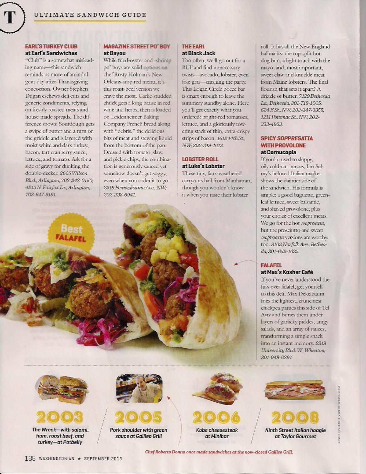 Washingtonian Sandwiches Page 5