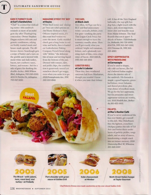 Washingtonian Sandwiches Page 5