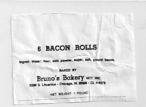 Bacon rollls