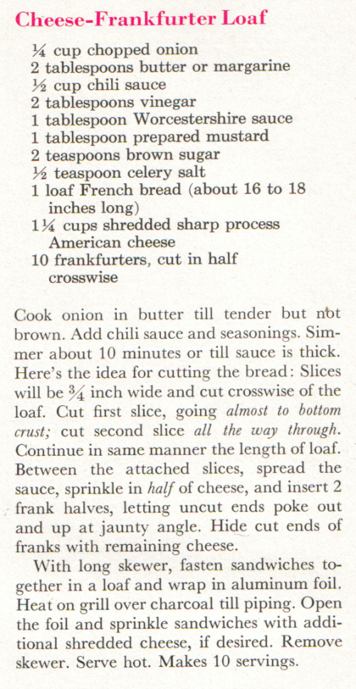 cheese frank recipe
